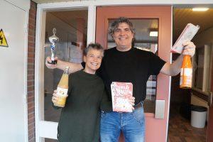 Derde prijs gemende poule Karin Hoff en Roger Senden