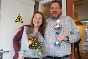 Eerste prijs gemengde poule Maritha Verkuijl en Marco Deegens