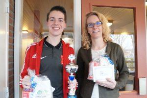 Tweede prijs gemengde poule Robin van Gameren en Wilma van der Meijden